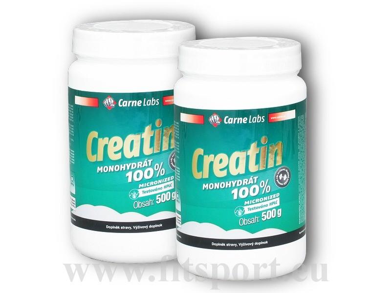 2x Creatin Monohydrát HPLC 500g - Carne Labs