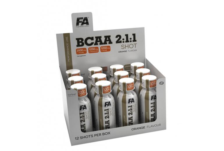 BCAA 2:1:1 SHOT 12x120ml Fitness Authority