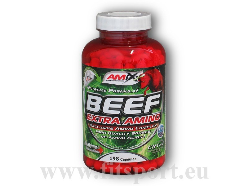Beef Extra Amino 198 kapslí - Amix