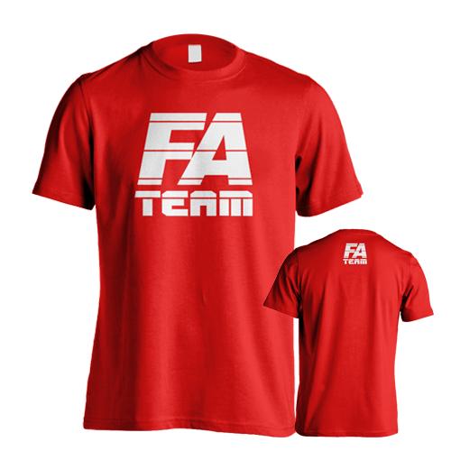 Fitness Authority pánské tričko FA Team Red