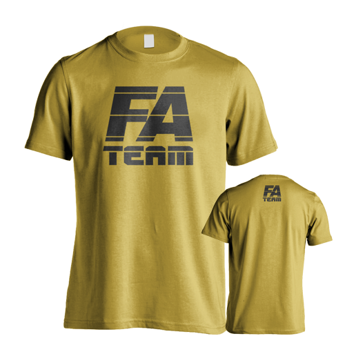 Fitness Authority pánské tričko FA Team Yellow
