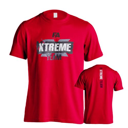 Fitness Authority pánské tričko FA Xtreme Team Red