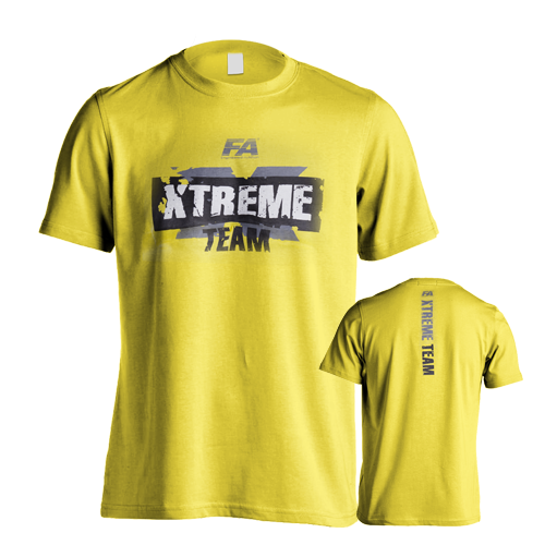 Fitness Authority pánské tričko FA Xtreme Team Yellow