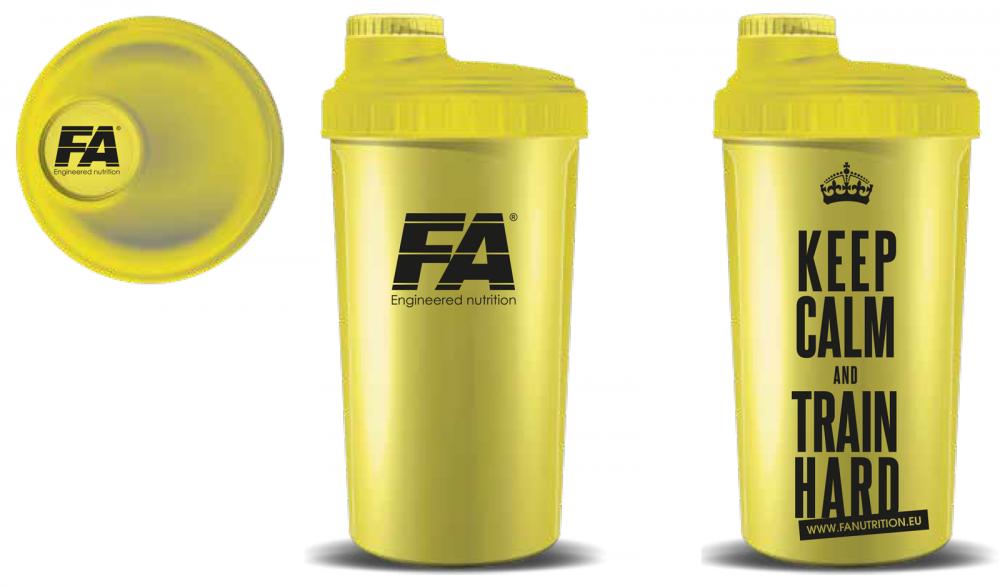 Fitness Authority Shaker 700 ml žlutý