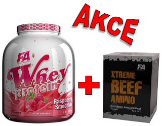 Fitness Authority Whey Protein 2270 g + Xtreme Beef Amino 600 tablet