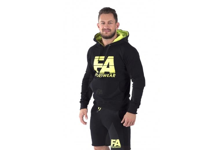 Hoodie Basic Black Fitness Authority S