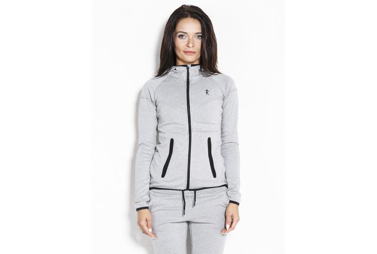 Hoodie Jacket 01 LW Melange Grey Kevin Levrone