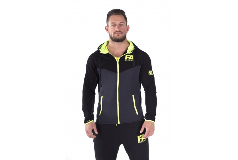 Hoodie Jacket Neon Flash Fitness Authority