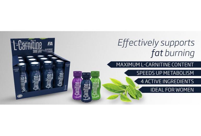L-Carnitine 3000 PLUS 100 ml Fitness Authority hroznové víno