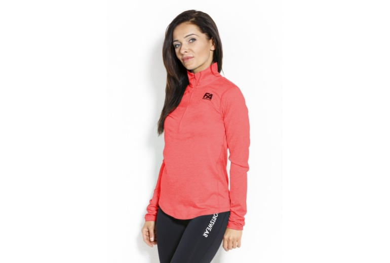 Longsleeve W 01 Run Red Fitness Authority S