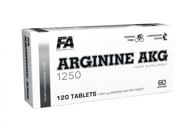 Arginine AKG 1250 blisters 120tbl - Fitness Authority