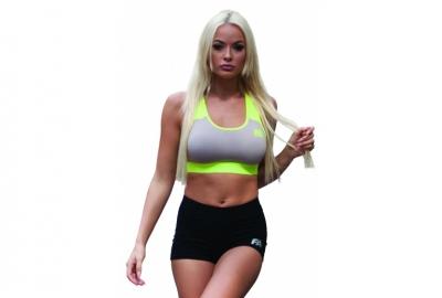 Bra 01 W Form Grey/Neon Flash Fitness Authority