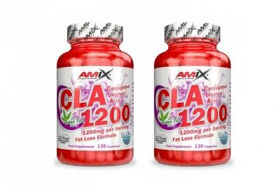2x CLA 1200 + Green Tea 120 kapslí - Amix