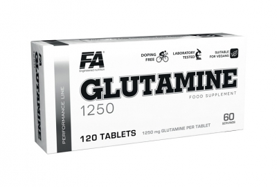 Glutamine 1250 120 tablet Fitness Authority