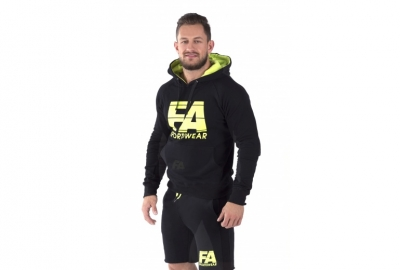 Hoodie Basic Black Fitness Authority
