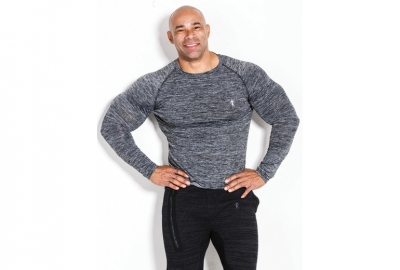 Longsleeve 01 LM Compression Dark Grey Kevin Levrone