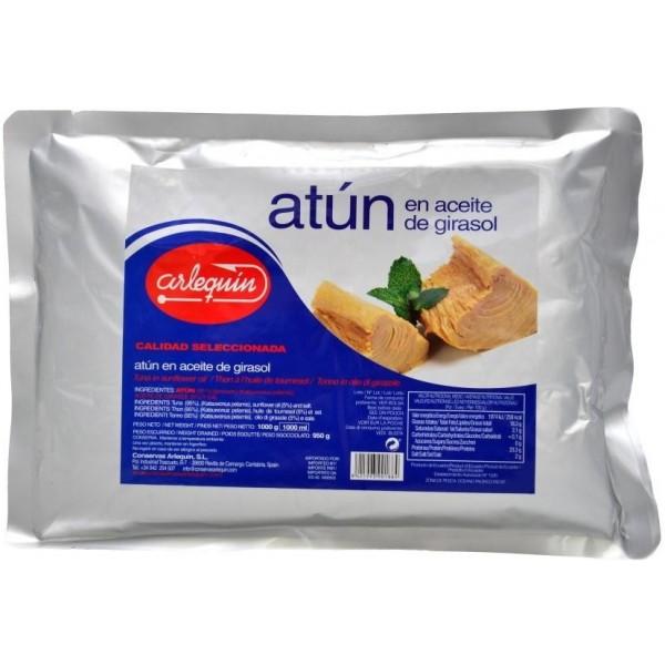 Tuňákové kousky v rostlinném oleji 1000g - Arlequin