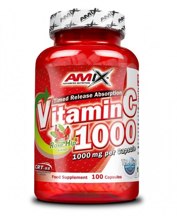 Vitamin C 1000mg + Rose Hips 100 kapslí - Amix